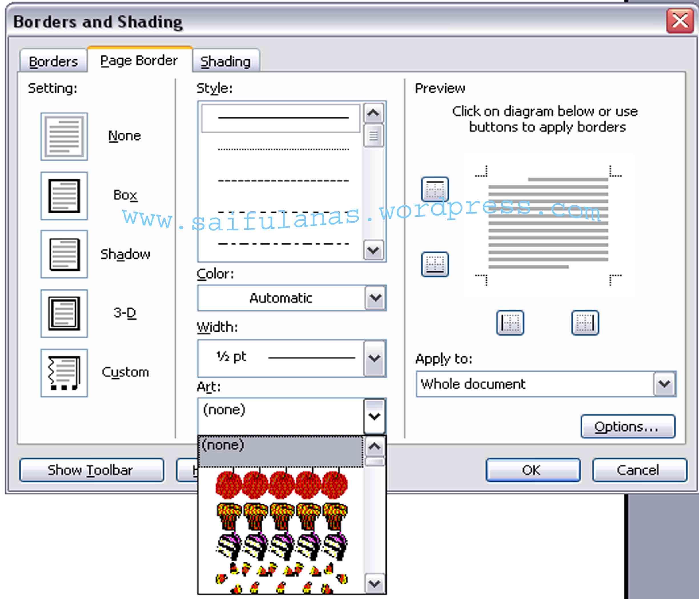 Instal border di ms word 2003 glance technology nah sekarang kamu bisa membuat border agar halaman lebih menarik ccuart Images